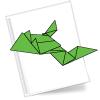 Оригами схема Лягушка