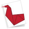 Оригами схема Гусь