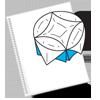 Схема круглой оригамной коробочки